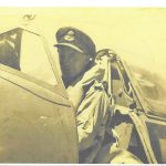 Chris House in a Spitfire in North Africa