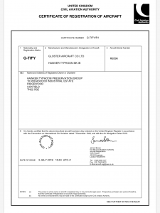 G-TIFY certificate of registration